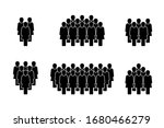 people icon set in trendy flat... | Shutterstock .eps vector #1680466279