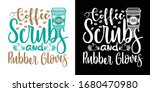 coffee scrubs and rubber gloves ... | Shutterstock .eps vector #1680470980