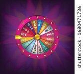 roulette 3d fortune wheel...   Shutterstock .eps vector #1680471736