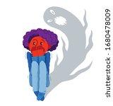 sciophobia fear of shadows... | Shutterstock .eps vector #1680478009