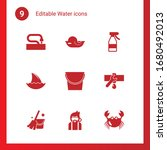 9 water filled icons set... | Shutterstock .eps vector #1680492013