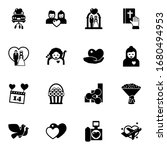 16 love filled icons set... | Shutterstock .eps vector #1680494953