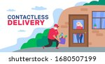 safe contactless delivery to... | Shutterstock .eps vector #1680507199