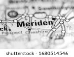 Meriden. Connecticut. USA on a geography map