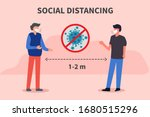 social distancing. keep the 1 2 ... | Shutterstock .eps vector #1680515296