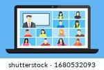 online class. stay school learn ... | Shutterstock .eps vector #1680532093