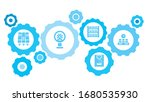 connected gears and vector... | Shutterstock .eps vector #1680535930
