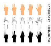 finger count. hand counting...