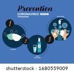 coronavirus prevention... | Shutterstock .eps vector #1680559009
