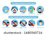 hand sanitizers. coronavirus... | Shutterstock .eps vector #1680560716