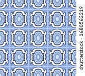 blue geometrical pattern design ... | Shutterstock . vector #1680562219