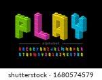 plastic construction blocks... | Shutterstock .eps vector #1680574579