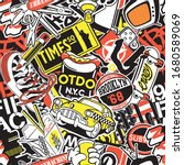 new york urban sticker... | Shutterstock .eps vector #1680589069