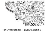 creative art doodles hand drawn ... | Shutterstock .eps vector #1680630553