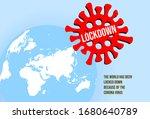 corona virus lockdown symbol... | Shutterstock .eps vector #1680640789
