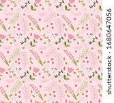 flowers seamless pattern....   Shutterstock .eps vector #1680647056