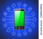 illustration of smart phone... | Shutterstock .eps vector #168064856