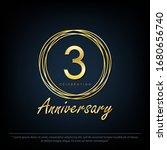 3rd years anniversary... | Shutterstock .eps vector #1680656740