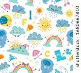 children cute weather seamless... | Shutterstock .eps vector #1680667810