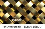 golden wicker pattern. vector...   Shutterstock .eps vector #1680715870