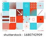 contemporary graphic design of... | Shutterstock .eps vector #1680742909