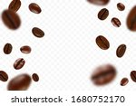 Falling Realistic Coffee Beans...