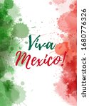 viva mexico background with... | Shutterstock . vector #1680776326