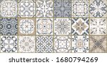 collection of 18 ceramic tiles... | Shutterstock .eps vector #1680794269