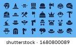 miner icon set. 32 filled miner ... | Shutterstock .eps vector #1680800089