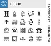 set of decor icons. such as... | Shutterstock .eps vector #1680803056