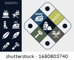 smooth icon set. 13 filled... | Shutterstock .eps vector #1680803740