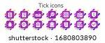 modern simple set of tick...