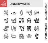 underwater icon set. collection ... | Shutterstock .eps vector #1680804850