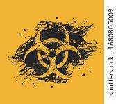 black and orange grunge...   Shutterstock .eps vector #1680805009