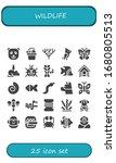 wildlife icon set. 25 filled... | Shutterstock .eps vector #1680805513