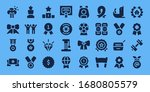 medal icon set. 32 filled medal ... | Shutterstock .eps vector #1680805579