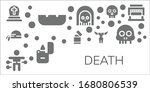 death icon set. 11 filled death ... | Shutterstock .eps vector #1680806539