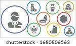 drugstore icon set. 9 filled... | Shutterstock .eps vector #1680806563