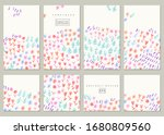set of hand drawn floral... | Shutterstock .eps vector #1680809560