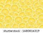 Lemon Slices Background. Yellow ...
