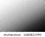 halftone dots background. black ... | Shutterstock .eps vector #1680821590