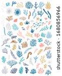 vector set of seaweeds. big... | Shutterstock .eps vector #1680856966