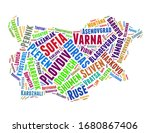 bulgaria word cloud concept on... | Shutterstock . vector #1680867406