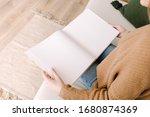 White Book Mockup. Opened...