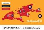 covid 19  covid 19 isometric... | Shutterstock .eps vector #1680880129