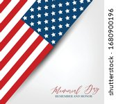 memorial day banner background... | Shutterstock .eps vector #1680900196