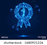 a hologram of the medal. a... | Shutterstock .eps vector #1680921226