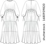 layer relaxed loose fit long...   Shutterstock .eps vector #1680939820