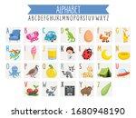illustrated alphabet letters... | Shutterstock .eps vector #1680948190