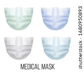 set of medical masks realistic... | Shutterstock .eps vector #1680950893